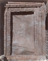Close view of door of temple courtyard, Damdama, Hazaribagh District.